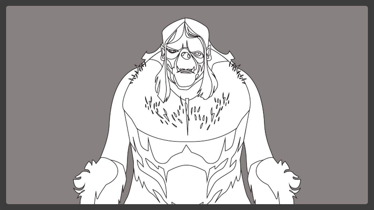 Line drawing - Grendel