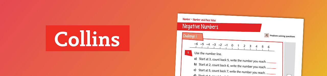 Negative number worksheet