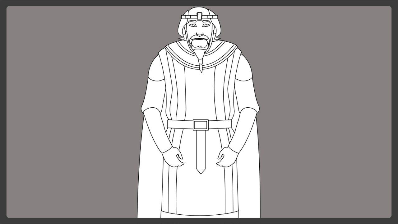 Line drawing - King Hrothgar