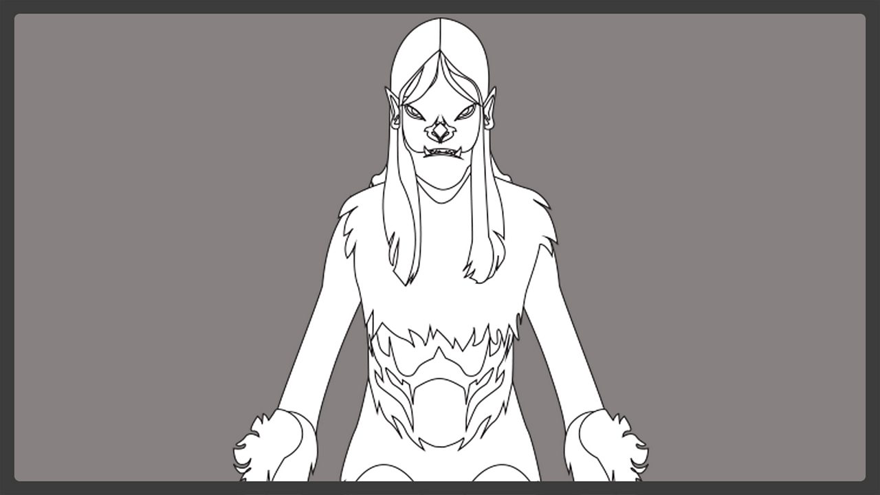 Line drawing - Grendel's mother