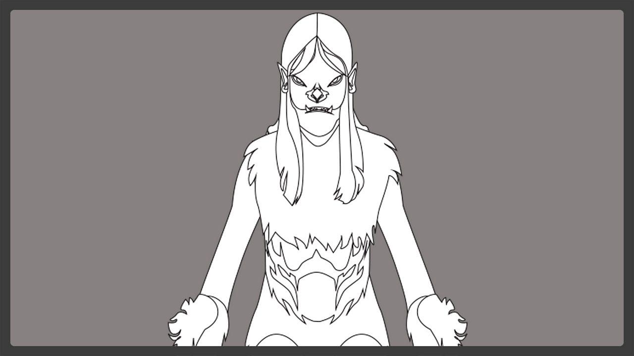 Line drawing - Grendel's mother