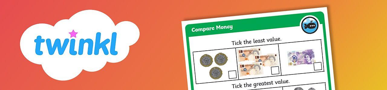 Compare money worksheet