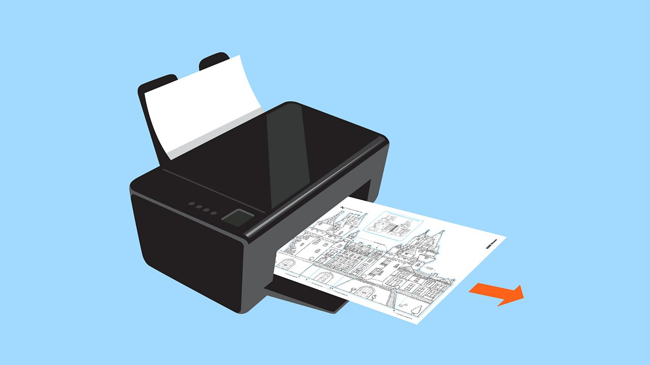 Print out (imprime) the template (le modèle) onto an A4 sheet of thin card.