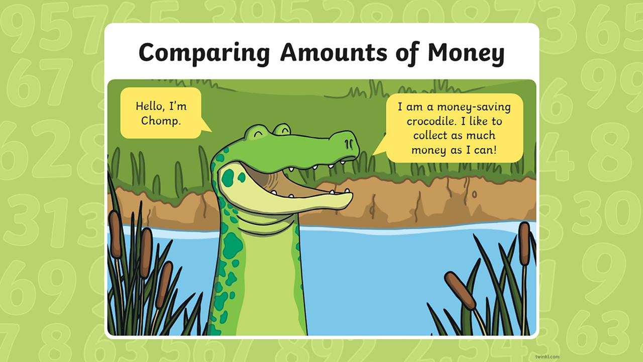 Chomp the money-saving crocodile.