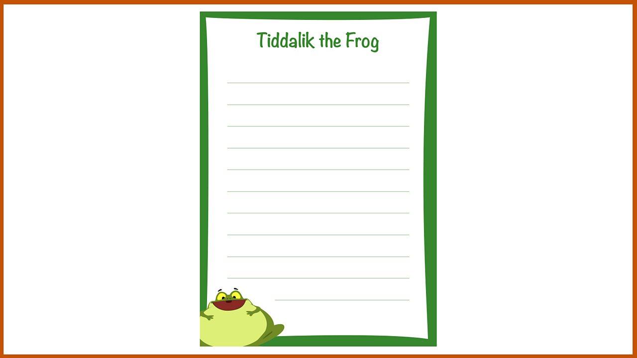 Resource Sheet 11: Writing sheet