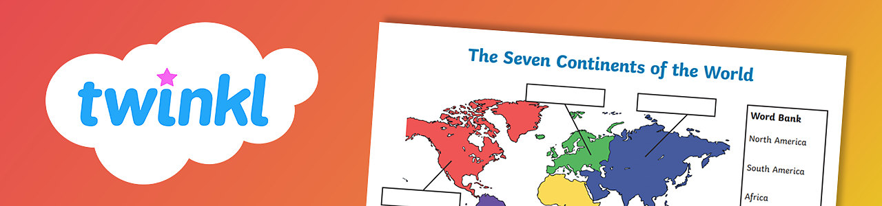 Seven continents activity sheet