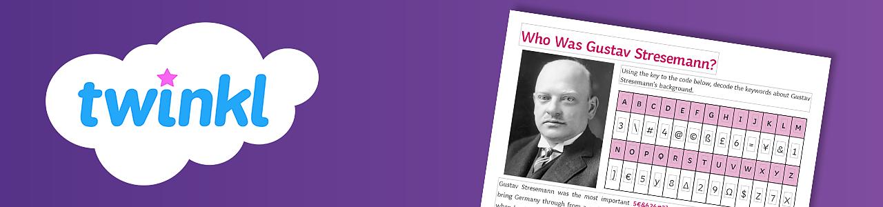 Who was Gustav Stresemann?