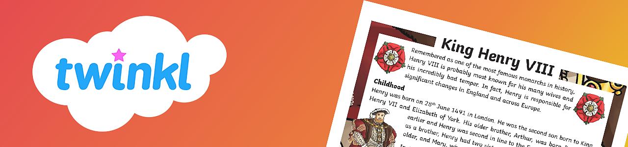 Henry VIII comprehension activity
