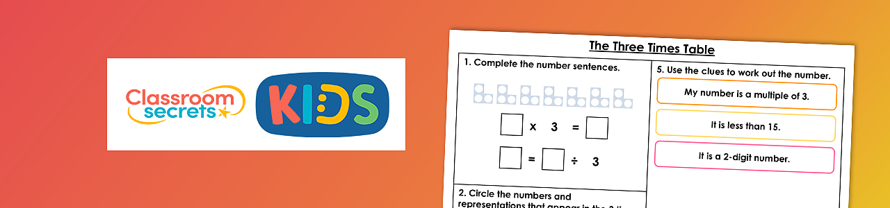 Three times table – Activity 1