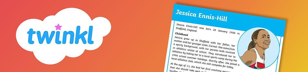 Jessica Ennis-Hill report worksheet