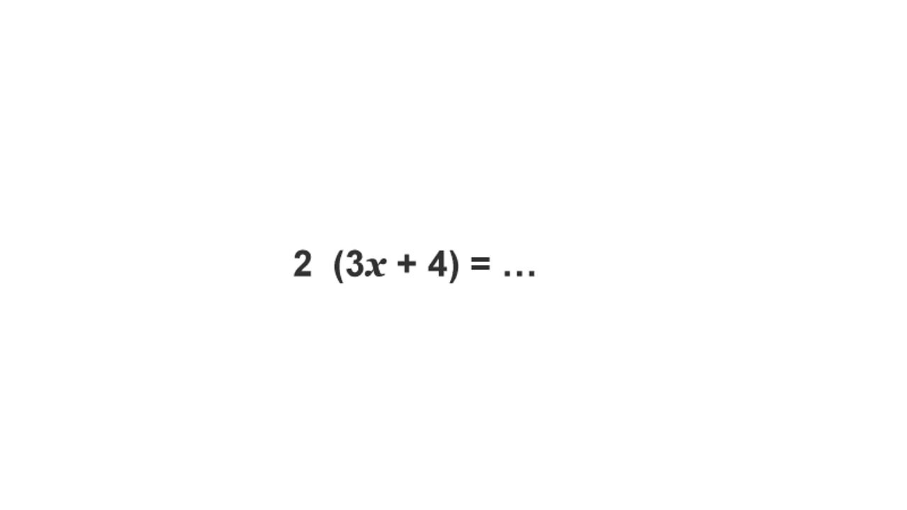2 (3x + 4) = ...