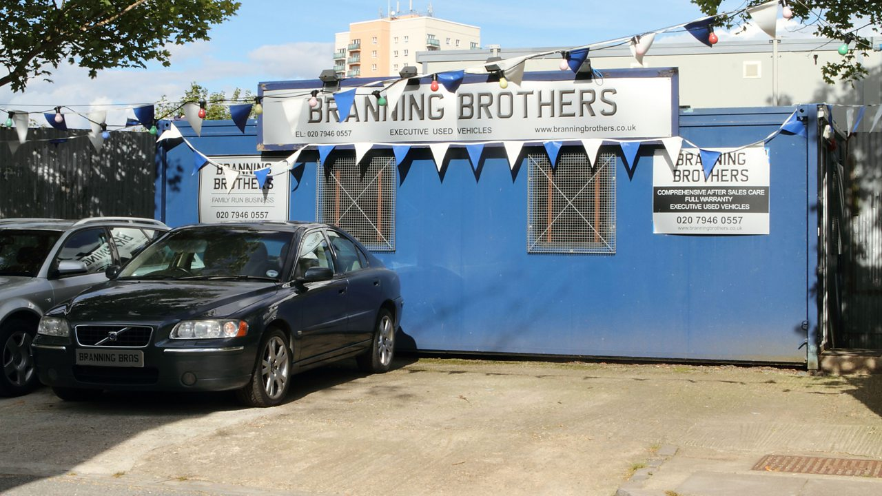 EastEnders - Branning Brothers car lot, 2012