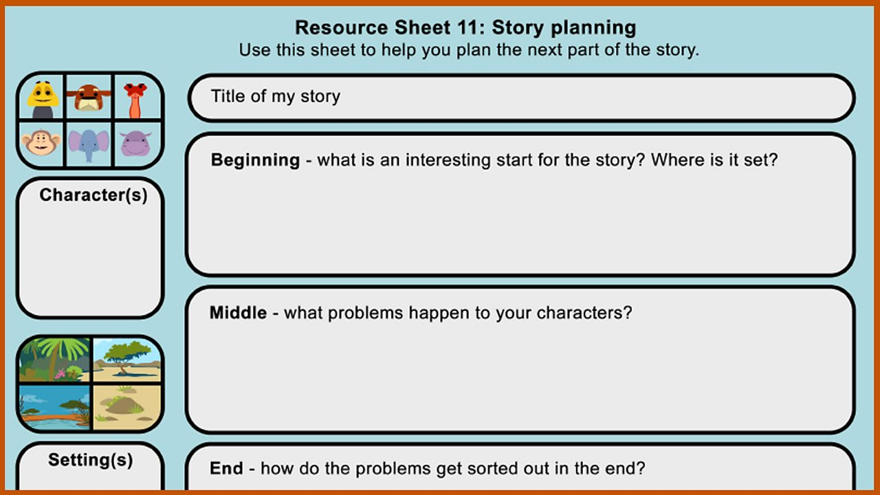 Resource Sheet 11: Story planner