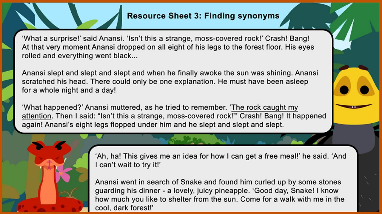 Resource Sheet 3: Finding synonyms
