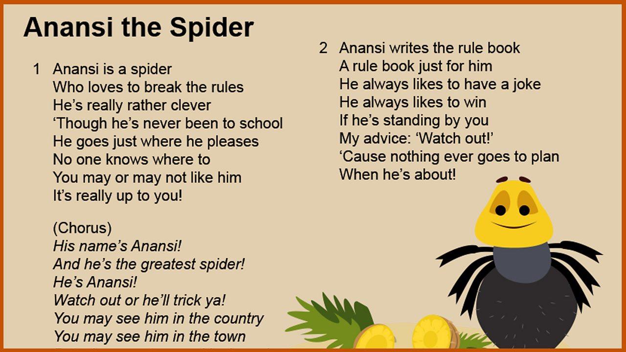 Resource Sheet 4: Lyrics 'Anansi the Spider'