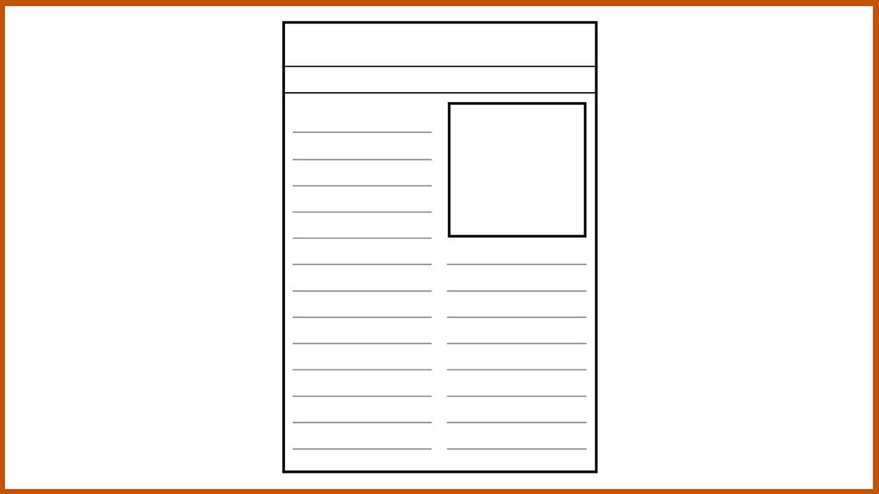 Resource Sheet 10: Newspaper template