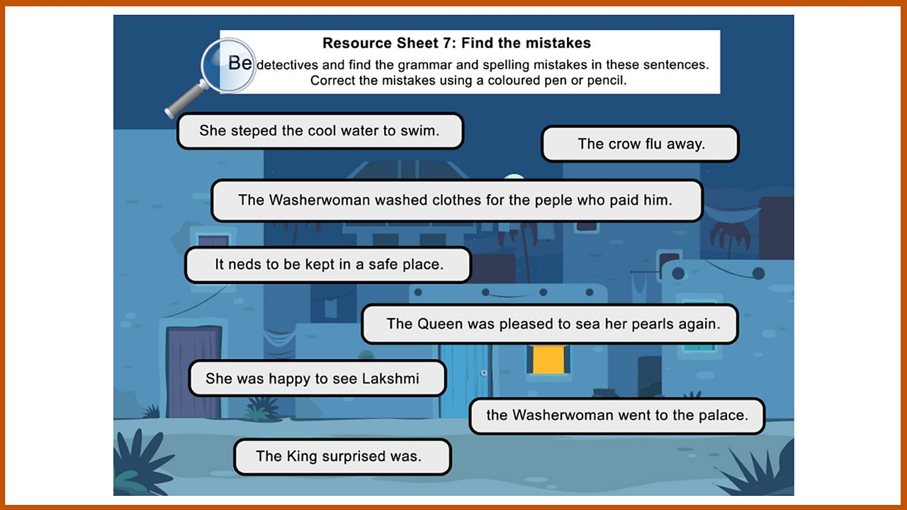 Resource Sheet 7: Find the mistakes