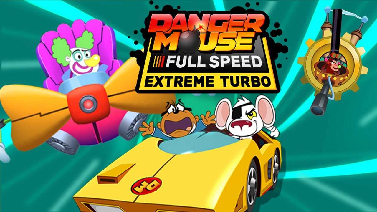 Race to defeat the baddies in the Danger Mouse Full Speed game