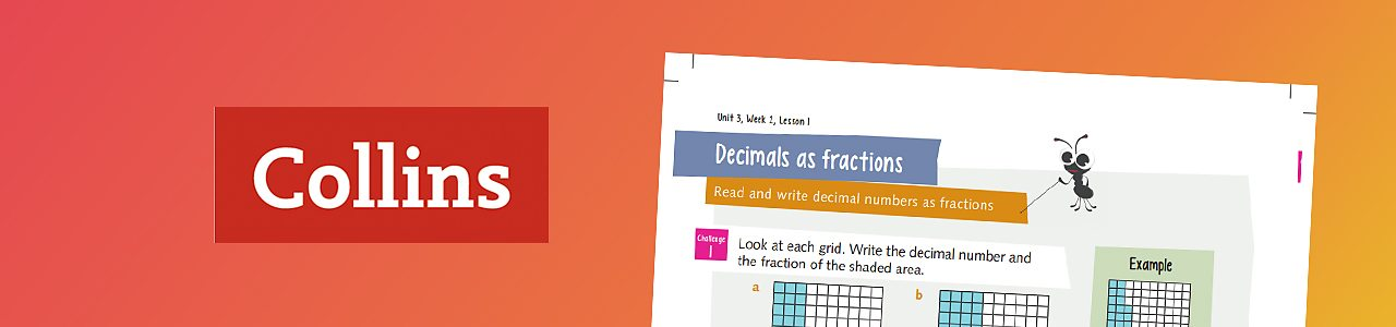 Decimals as fractions - Busy Ants worksheet