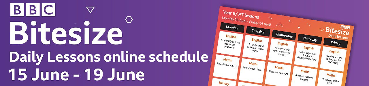 Plan ahead with our schedule for Monday 15 to Friday 19 June