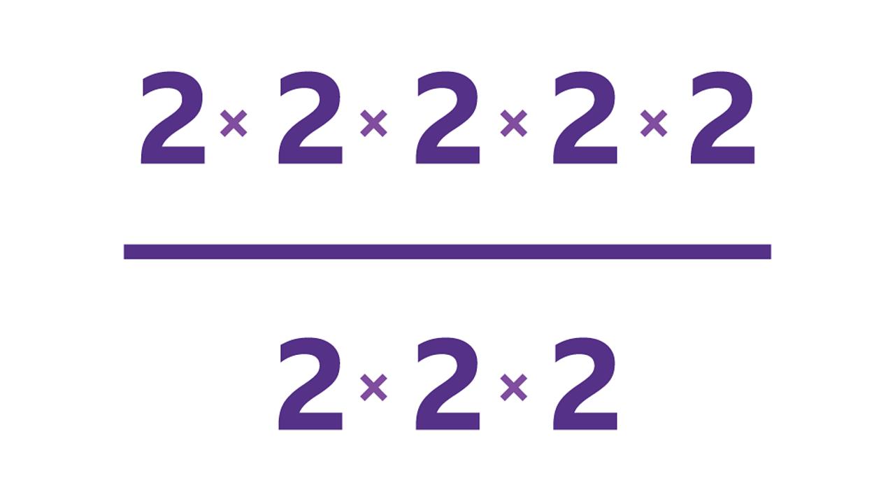 2 × 2 × 2 × 2 × 2 / 2 × 2 × 2