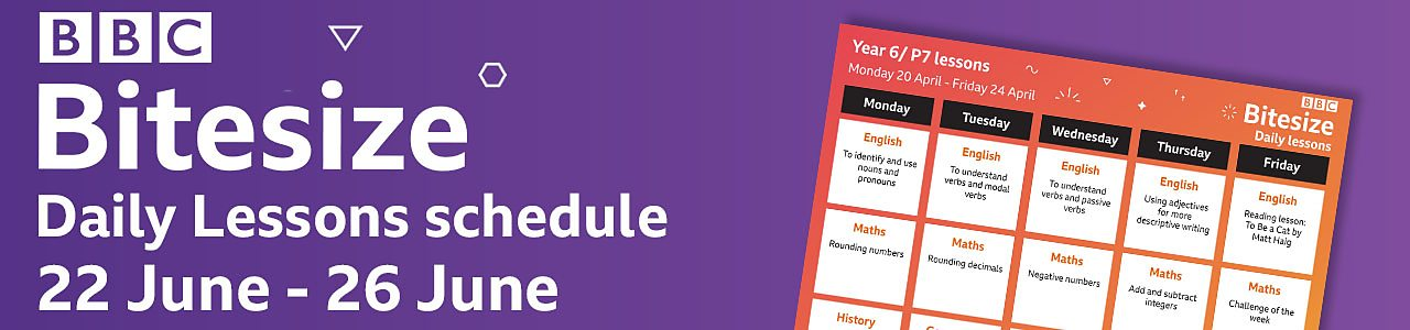 Plan ahead with our schedule for Monday 22 to Friday 26 June