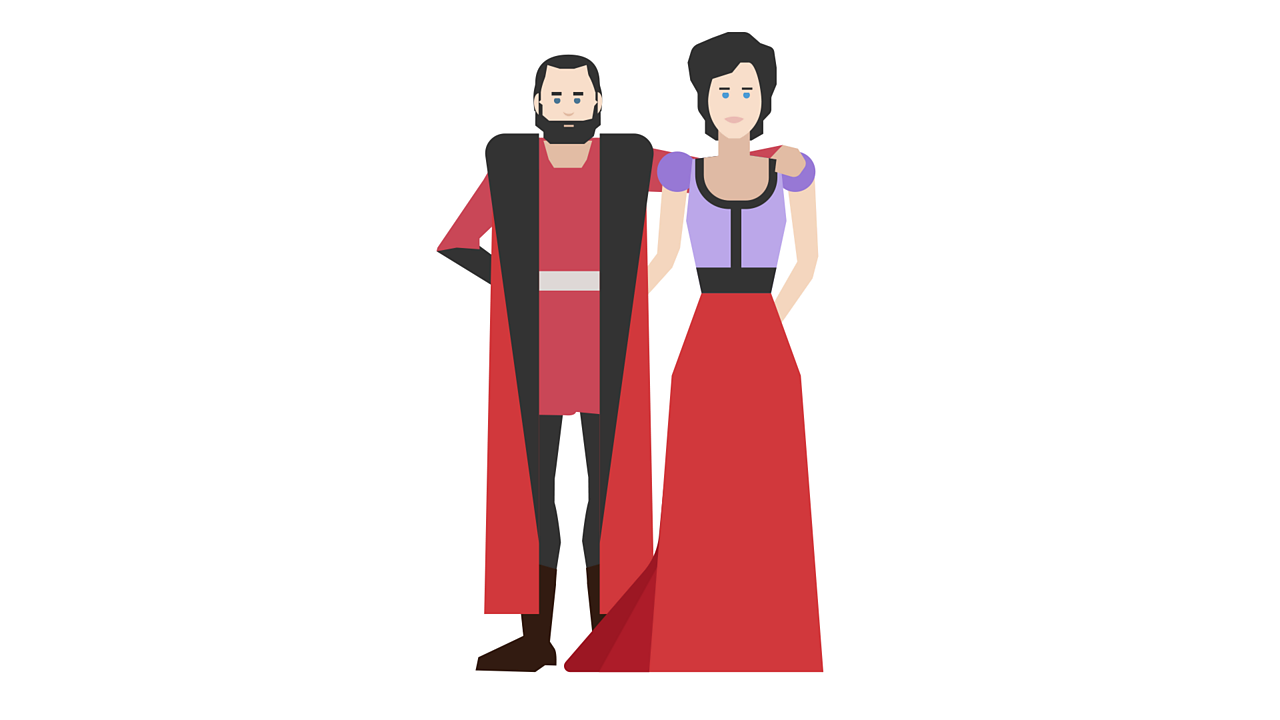 Illustration of Lord and Lady Capulet, Juliet's parents