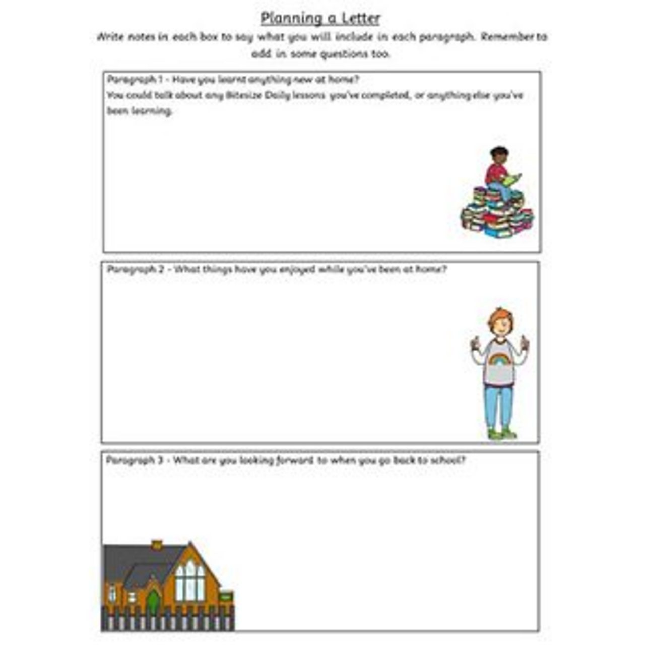 Planning a Letter