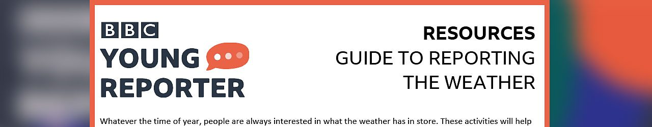 Guide to reporting the weather (PDF)