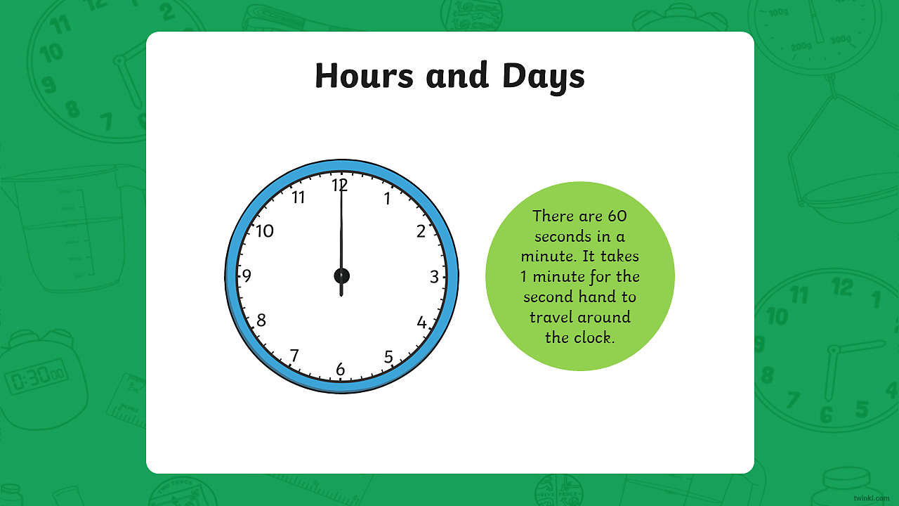 The image shows a clock with just a second hand.