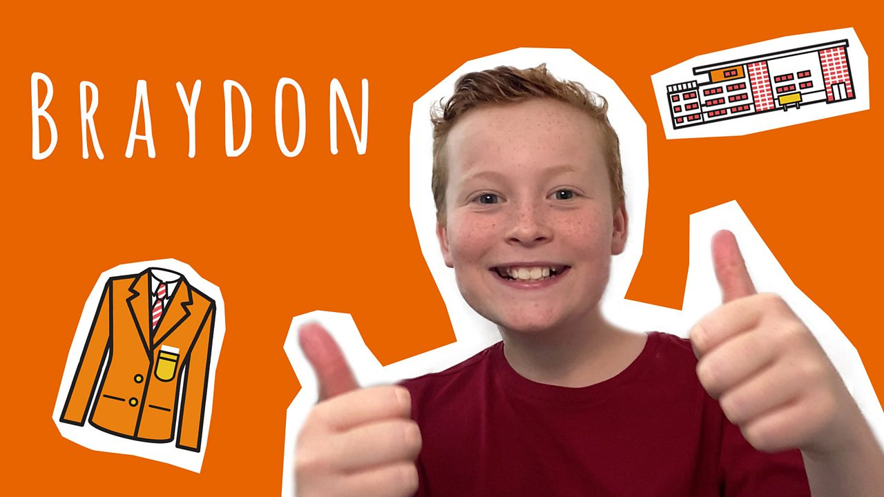 Braydon on starting secondary school