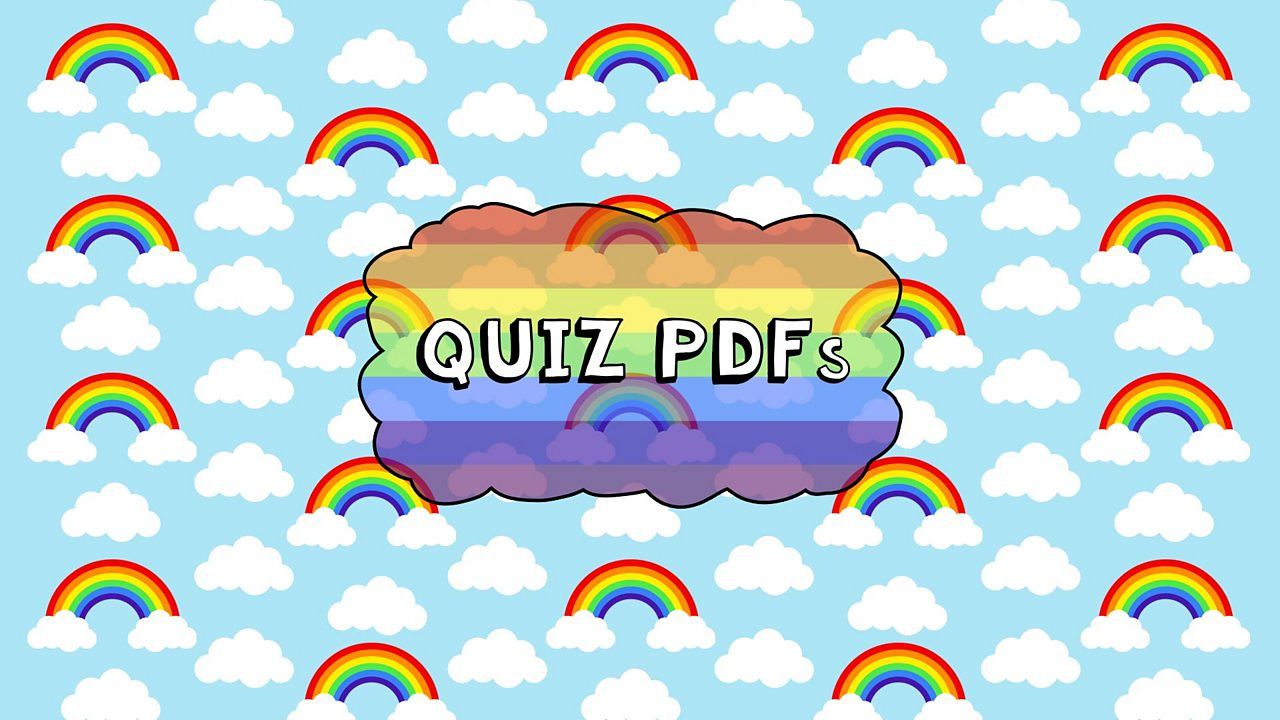 Mini Rainbows Quiz - Yellow