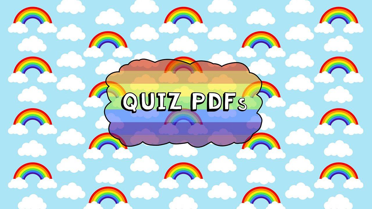 Mini Rainbows Quiz - Blue