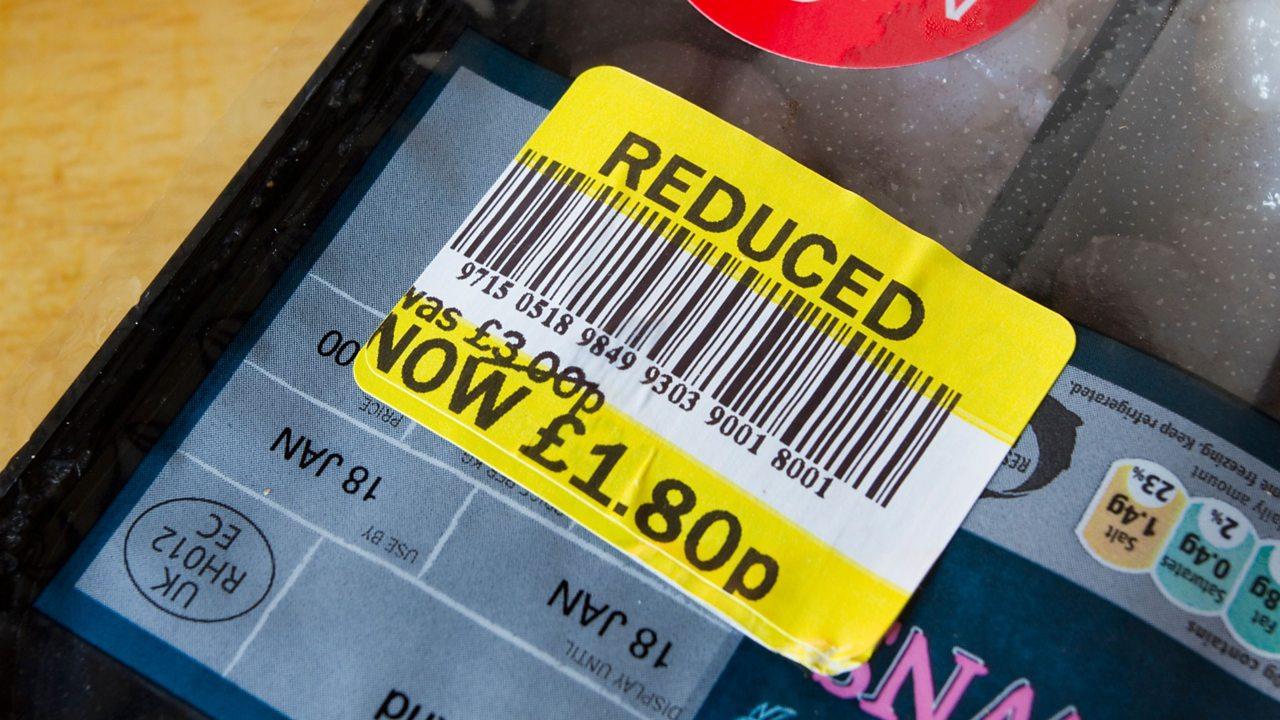 Reduced food sticker