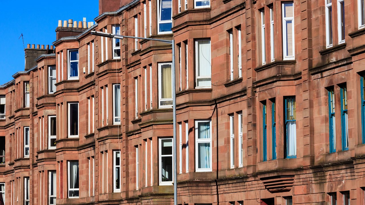 A view of Glasgow tenements today.