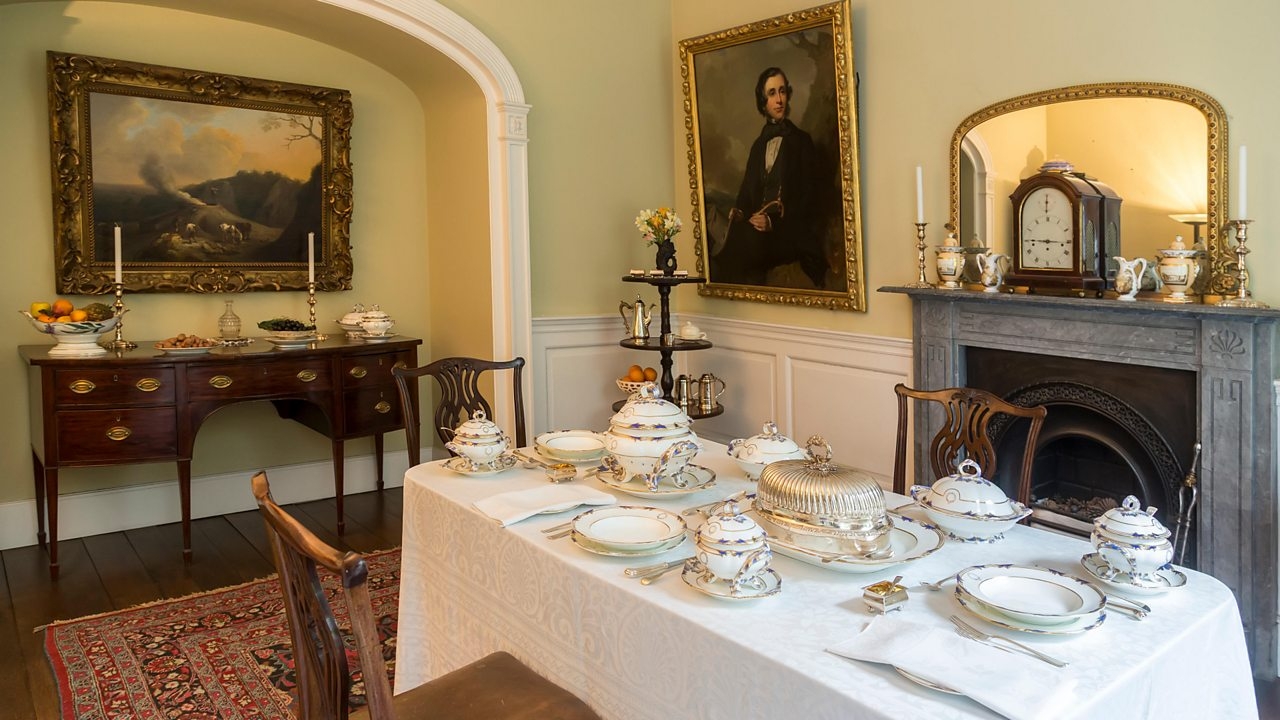 A recreation of a Victorian dining room
