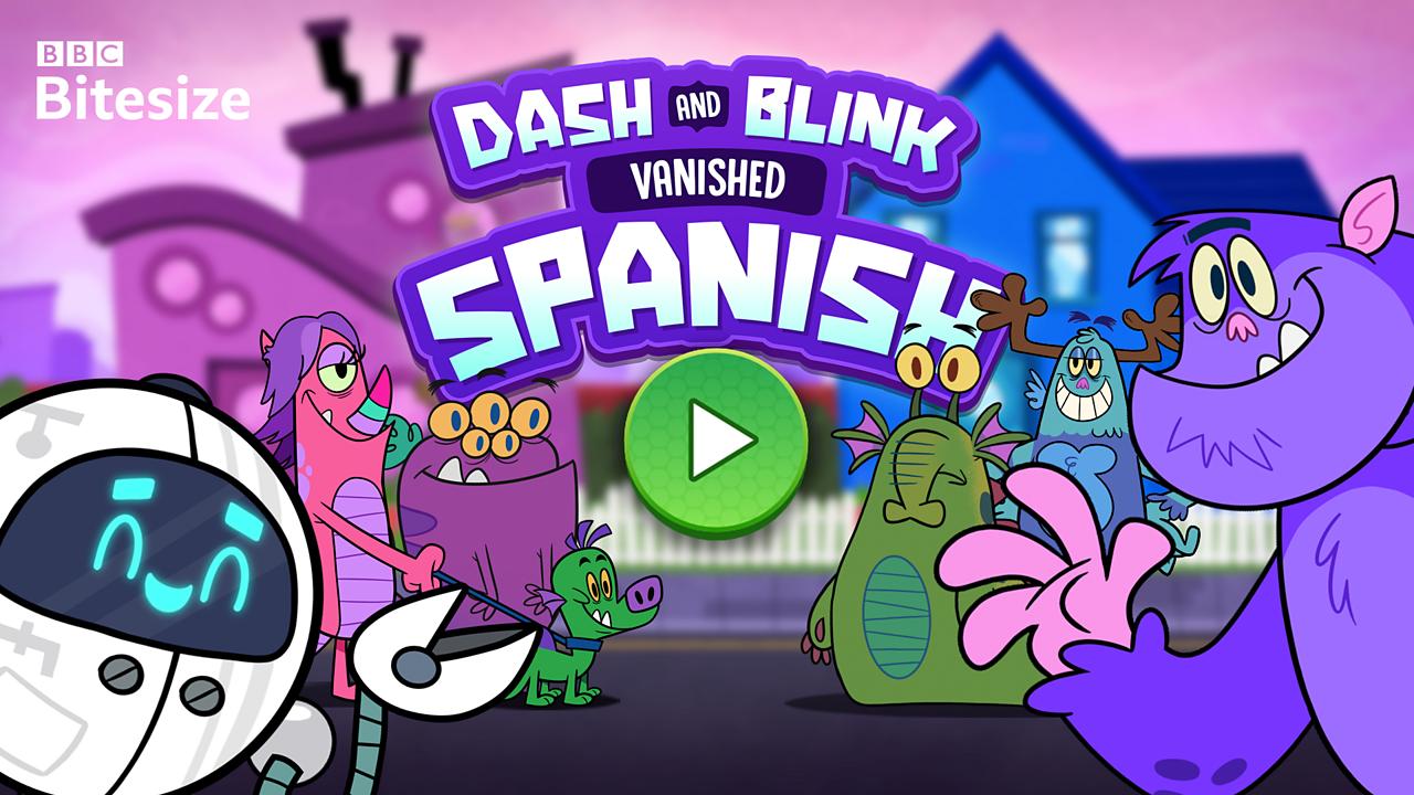 Play Dash And Blink Spanish Game For Kids Free Online Spanish Games Bbc Bitesize