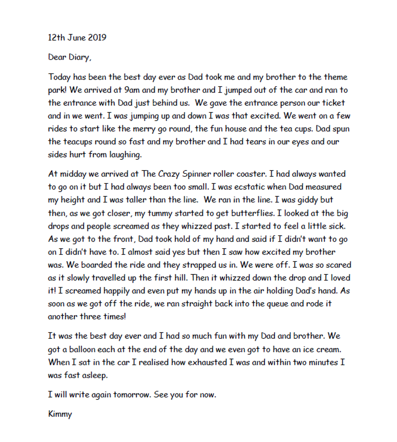 Writing a diary entry - Year 11 - P11 - English - Home Learning with