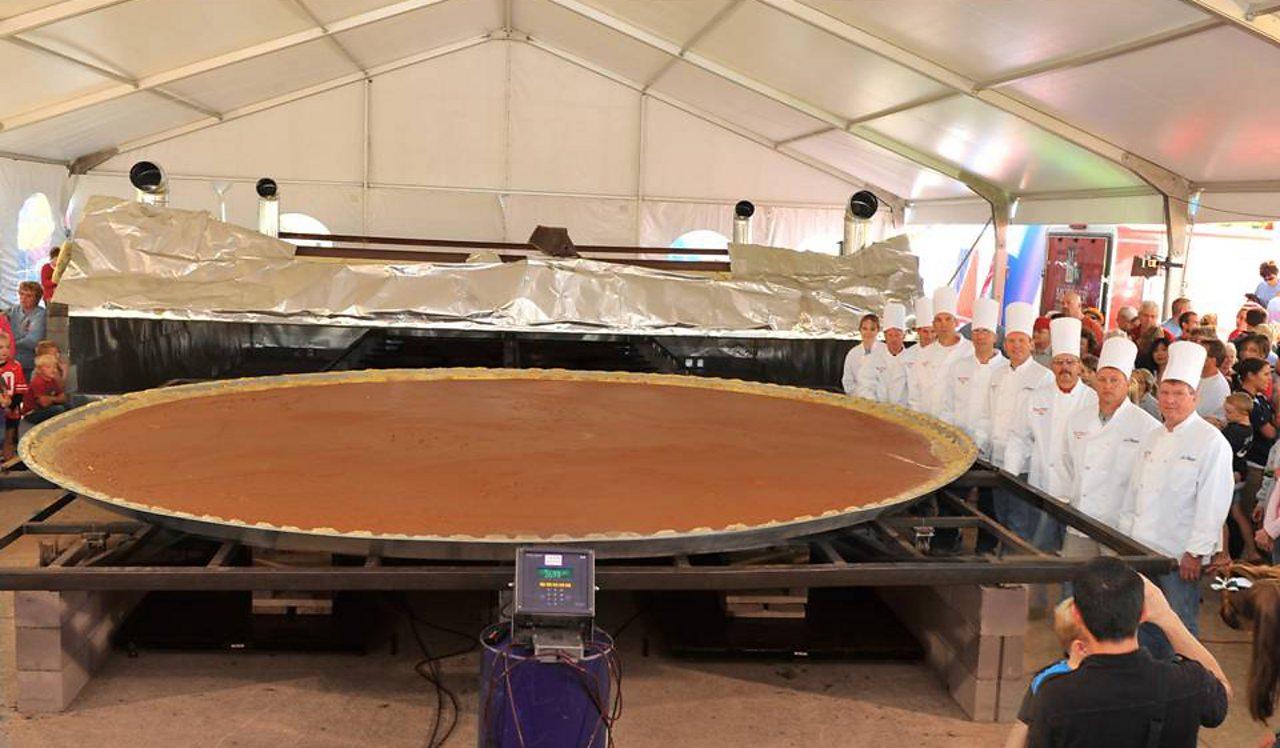 The world's largest pumpkin pie