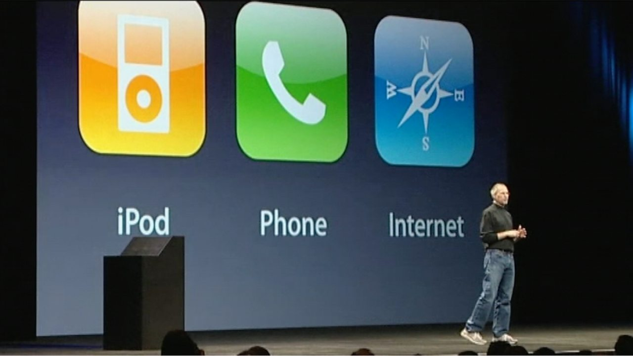 First Apple iPhone launched, 2007