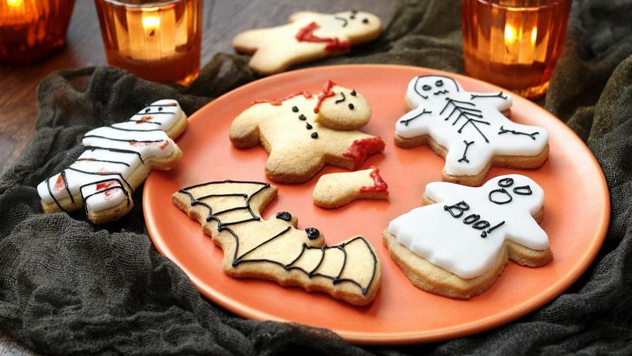Scary Halloween cookies