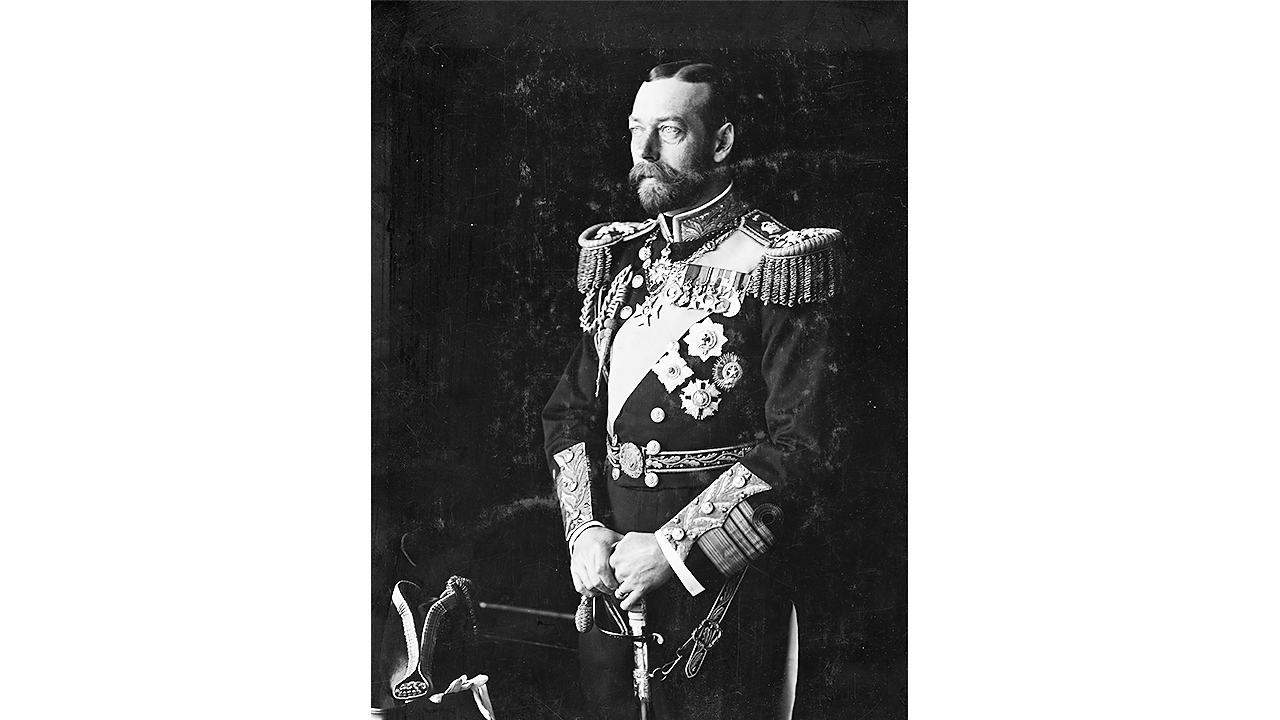 A photograph of king George V.