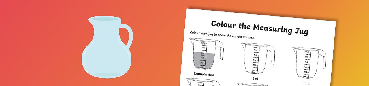 Colour the measuring jug