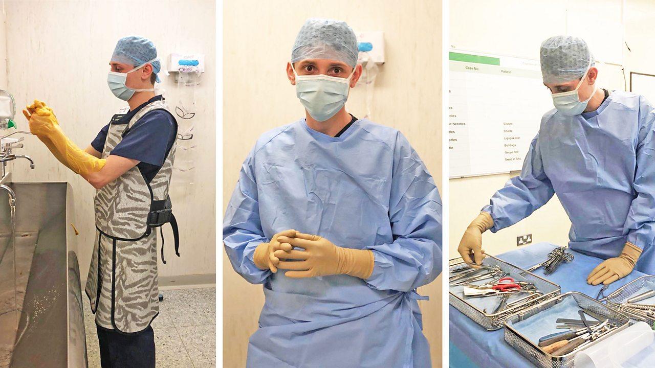 Connor: orthopaedic scrub nurse