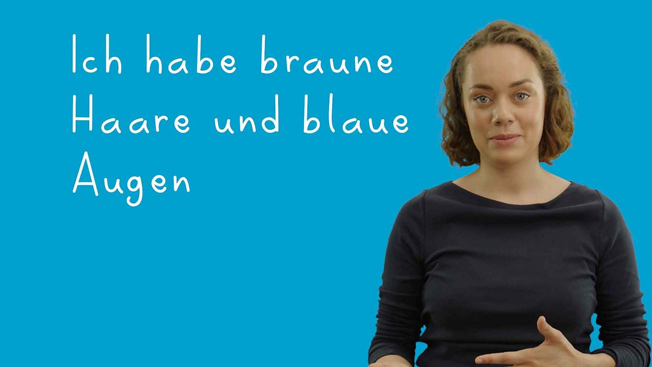 Describing people in German using 'haben' and 'sein'