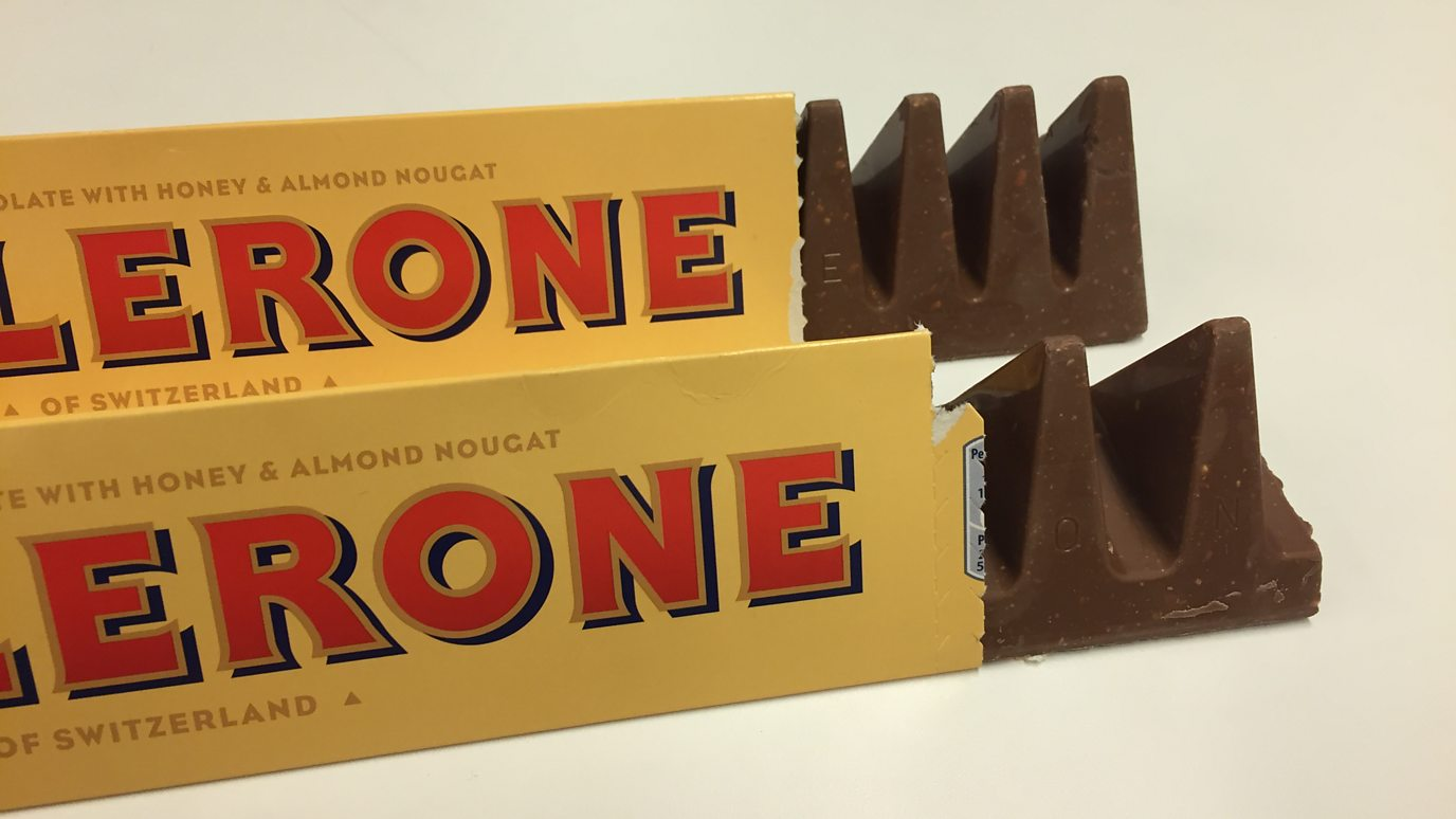 Shrinkflation applicata al Toblerone