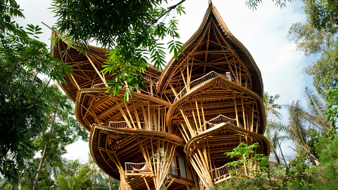 The beautiful homes made from bamboo - BBC Reel