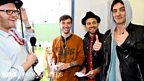 Backstage on Saturday at Reading + Leeds 2012
