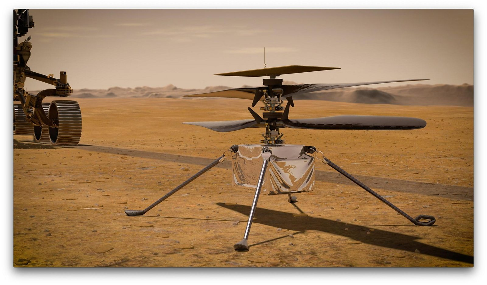 The first aircraft to fly on another planet