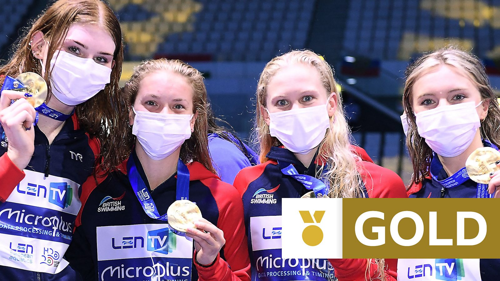 'What a swim!' GB women win historic European relay gold